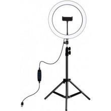 Puluz PKT3053B 10 кільцева USB LED лампа та штатив 1.1 м