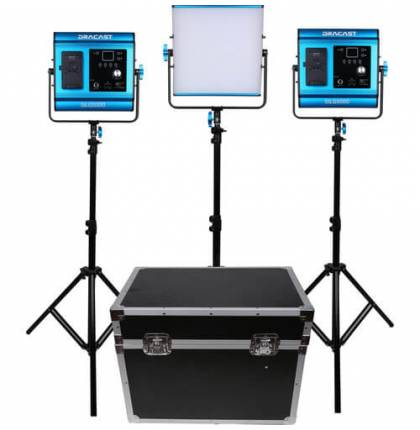 Dracast 3x SILQ500D LED Light Kit Daylight