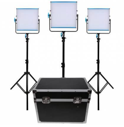 Dracast 3x SILQ500B LED Light Kit Bi-Color