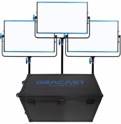 Dracast 3x SILQ1000B LED Light Kit Bi-Color