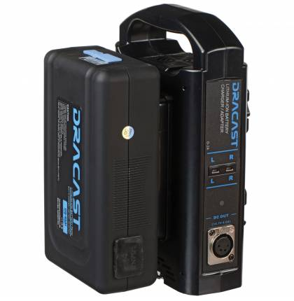 Dracast 90Wh Gold Mount Battery And Gold Mount Dual Battery Charger