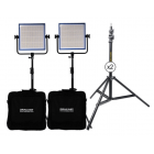 Dracast LED1000 Plus Daylight 2-Light Kit with Stands