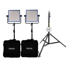 Dracast LED1000 Plus Bicolor 2-Light Kit with Stands