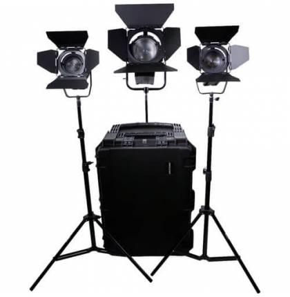 Dracast LED1700 Fresnel 3-Light Kit Daylight