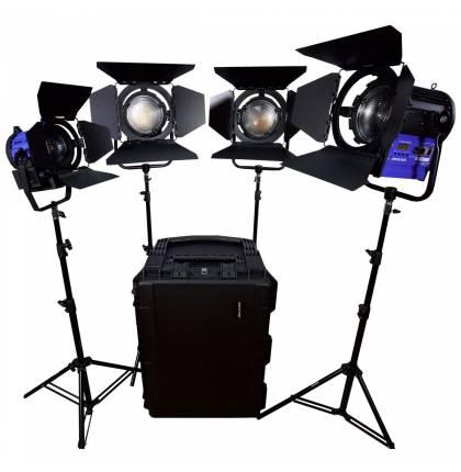 Dracast LED3500 Fresnel 4-Light Kit Daylight