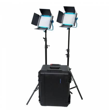 Dracast S Series LED500 Plus Daylight 2-Light Kit w Hard Case