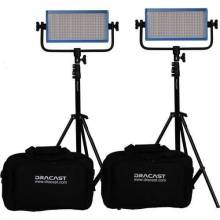 Dracast LED500 Plus Tungsten 2-Light Kit with Stands