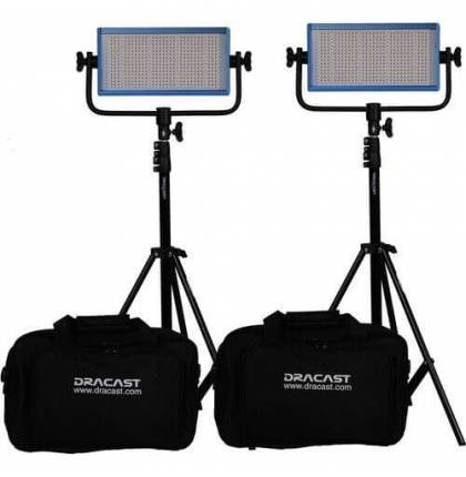 Dracast LED500 Plus Daylight 2-Light Kit with Stands