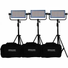 Dracast LED500 Plus Daylight 3-Light Kit with Stands