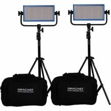Dracast LED500 Pro Daylight 2-Light Kit With V-Mount Battery Plates And Stands