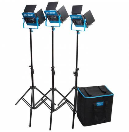 Dracast S-Series LED500 Daylight 3-Light Kit With NP-F Battery