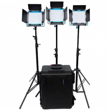 Dracast S-Series LED500 Daylight 3-Light Kit With V-Mount Battery
