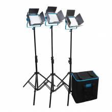 Dracast S-Series LED500 Bi-Color 3-Light Kit With V-Mount Battery