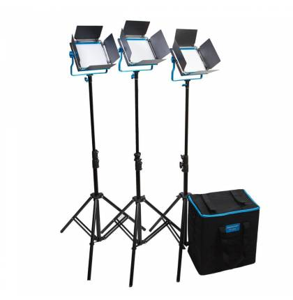 Dracast S-Series LED500 Bi-Color 3-Light Kit With NP-F Battery