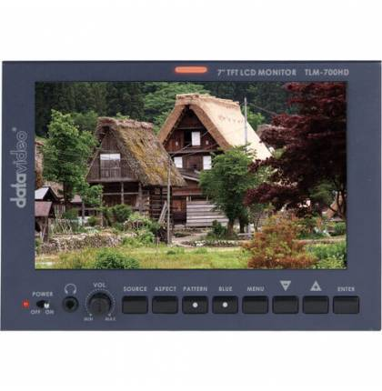 Datavideo TLM-700HD 7in LCD Monitor with Panasonic Battery Mount