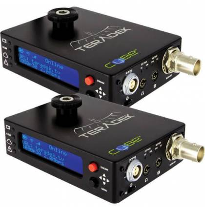 Teradek Cube 105 Encoder and 305 Decoder HD-SDI with Ethernet