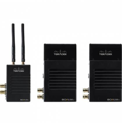 Teradek Bolt 500 XT SDI/HDMI Wireless Deluxe Kit with One Transmitter, Two Receivers (V-Mount)