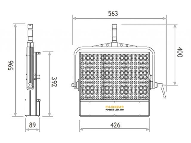 Панель FILMGEAR POWER LED 240 Tungsten