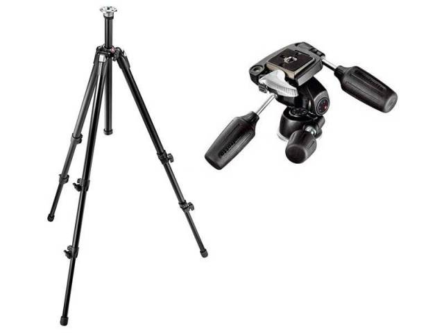 Штатив Manfrotto 055XDB + головка 804RC2