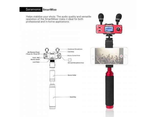 Стерео микрофон с микшером Saramonic SmartMixer для смартфонов