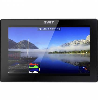 "SWIT S-1073F 7"" Full HD Waveform LCD Monitor with S-7006S V-Mount Battery Plate"