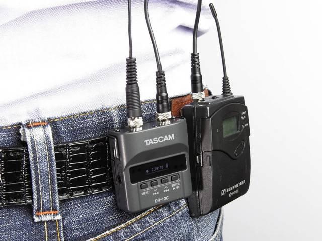 Рекордер Tascam DR-10CS для петличных микрофонов Sennheiser